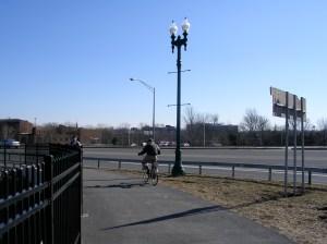 Biking along Rt. 5