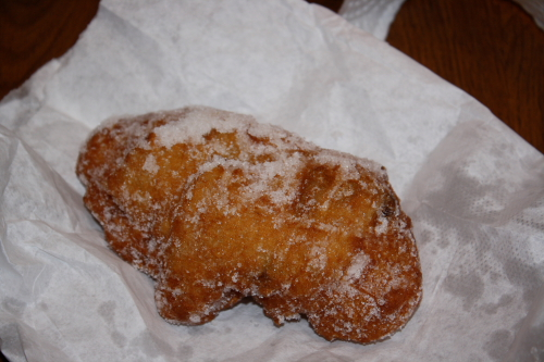 Greasy but oh so yummy huge zeppole