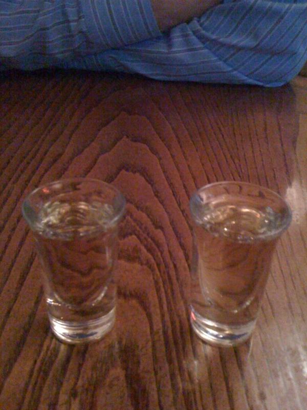 Plum wine shots
